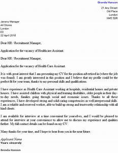 health care assistant cover letter example icoverorguk With how to write a cover letter for health care assistant