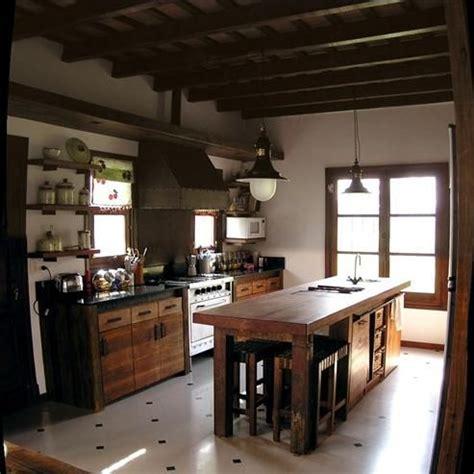 mesa de trabajo estilo campo cocinas pinterest mesas
