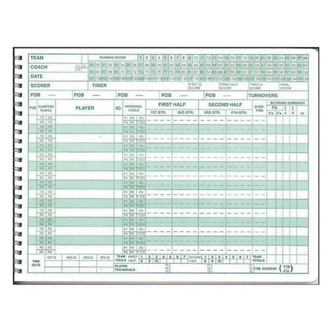 mark  basketball scorebook