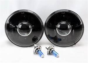 7 U0026quot  Round H4 Black Projector Glass Headlight Conversion
