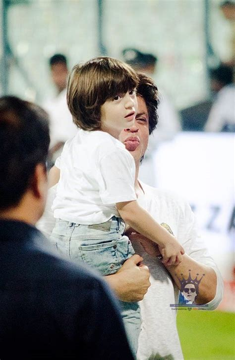 Abram khan, the third of king khan and gauri, turns a year older today, and it's celebration time for those who follow him. at IPL 13th May 2017 | Bollywood celebrities, Shahrukh khan, Abram khan