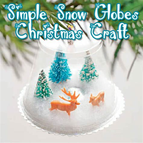 quot using what s available quot snow globe christmas craft