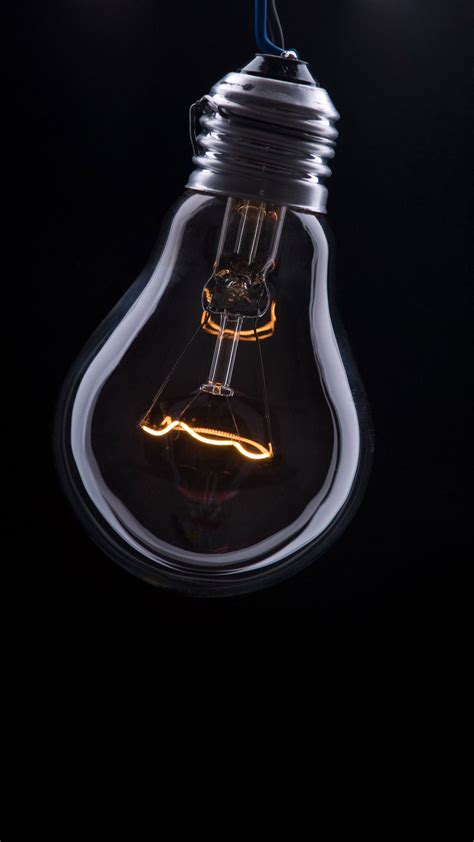 All pictures are free of charge and licensed under the free pexels license. Edison Lightbulb on Black Wallpaper   Plain wallpaper iphone, Samsung wallpaper