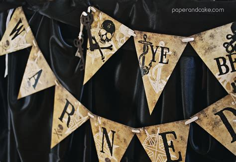 Haunted Pirate Halloween Printable Party Paper And Cake