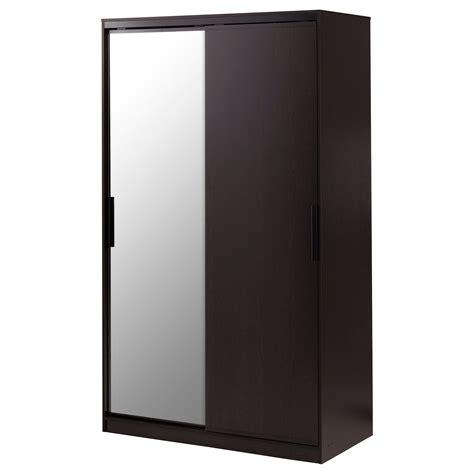 Black Brown Wardrobe Closet by Morvik Wardrobe Black Brown Mirror Glass Ikea Idea
