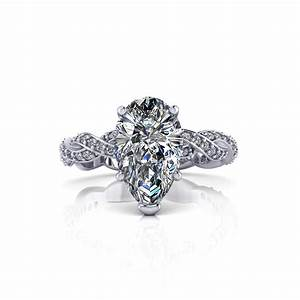 Infinity pear shape engagement ring jewelry designs for Infinity design wedding ring