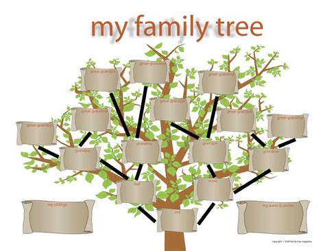 Blank Family Tree Template For by 50 Free Family Tree Templates Word Excel Pdf