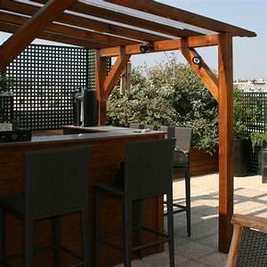 Bar Exterieur Bois : terrasse exterieure bar nos conseils ~ Teatrodelosmanantiales.com Idées de Décoration