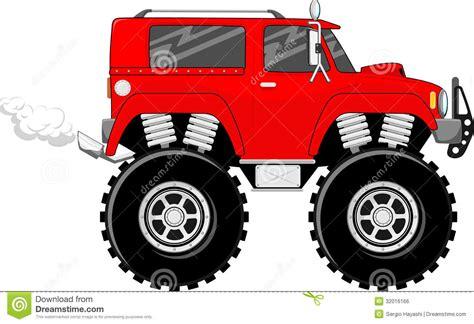 monster trucks races cartoon monstertruck cartoon vector royalty free stock image