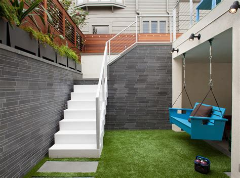 Outdoor Stairs And Hanging Bench