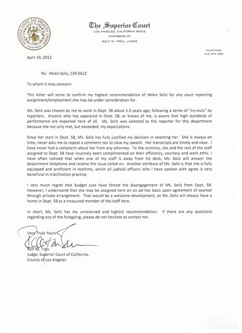 ccw letter of recommendation