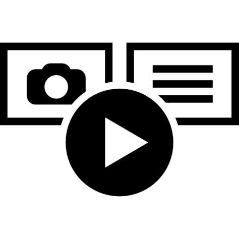 multimedia files visualization  multimedia icons