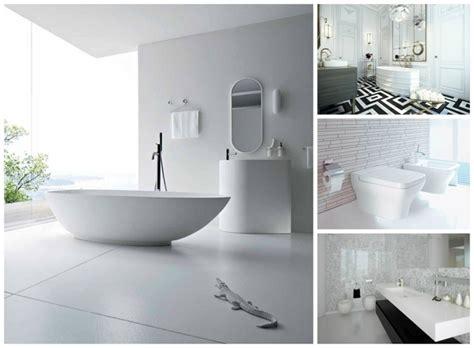 chambre à coucher blanche la salle de bains blanche design en 75 idées
