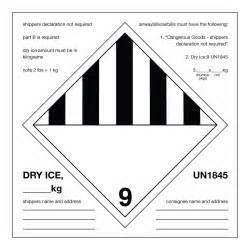 Dry-Ice Shipping Label