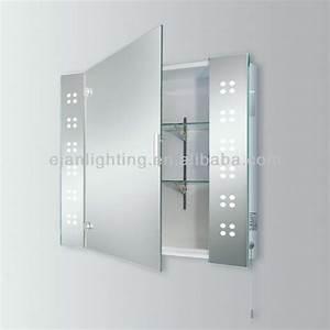 salle de bains lumineuse led miroir armoire avec prise With glace salle de bain avec prise