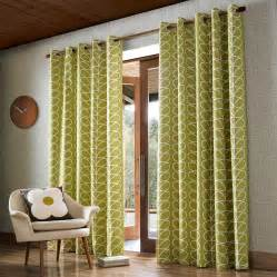 Olive Shower Curtain by Orla Kiely Linear Stem Olive Curtains