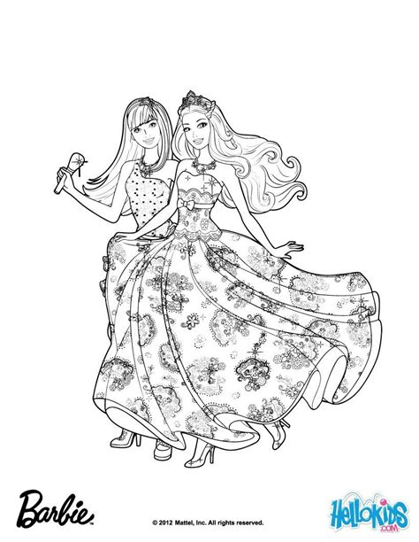 barbie starlight adventure coloring coloring pages