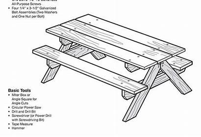 Picnic Table Plans Coloring Pages Plan Blueprint