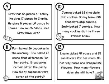 Two Step Addition And Subtraction Word Problems With 2