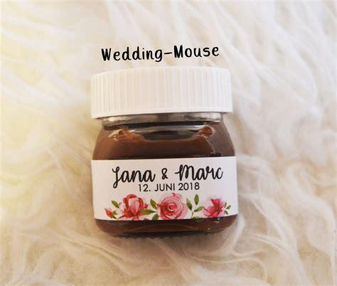 nutella mini labels   guest gift wedding vintage
