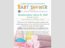 Cabell County Community Baby Shower May 17 – registration