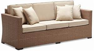 3 discount rattan patio furniture for outdoor restaurant for Outdoor sectional sofa cheap