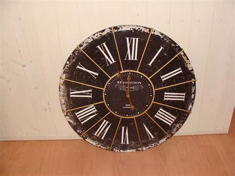 Black Kensignton Station Antique Large Wall Clock