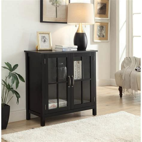 Black Accent Cabinet by Style Living Black Accent Cabinet And 2 Glass