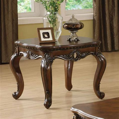 remington occasional living room  table carved solid