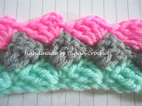 shell stitch crochet dinah crochet slanted shell stitch
