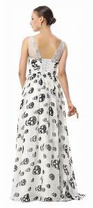 2017 burlesque white jewel neck straps skull print chiffon With skull wedding dress for sale