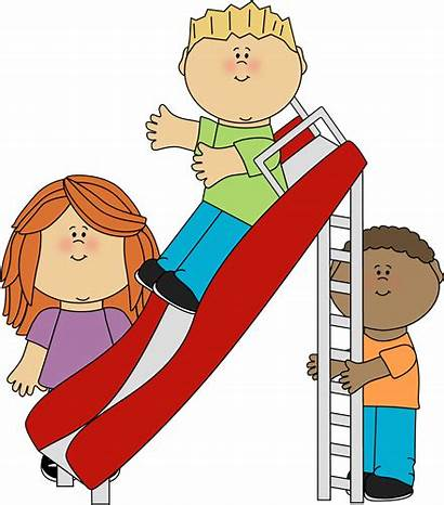 Playground Clip Recess Clipart Playing Slide Terrific
