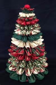 folded fabric christmas tree