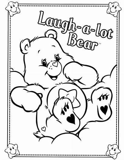 Coloring Care Bears Bear Laugh Printable Lot