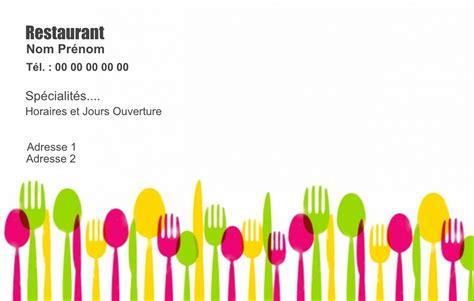 Carte De Visite Restaurant Design by Carte De Visite Restaurant Mod 232 Le Gratuit 224