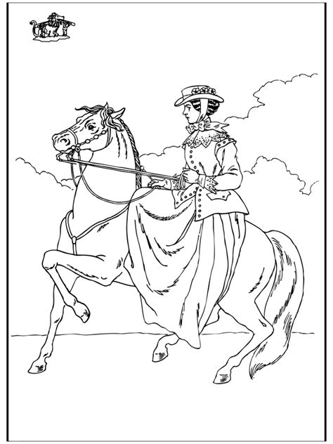 reiten  ausmalbilder pferde