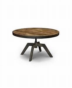 Table Basse Ronde Bois Metal : mobilier design original et abordable mon achat deco ~ Teatrodelosmanantiales.com Idées de Décoration
