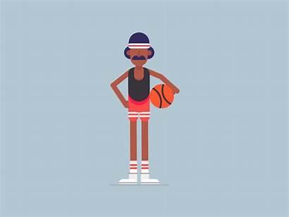 Basketball Dribbble Playing Animation Re Cartoon Character