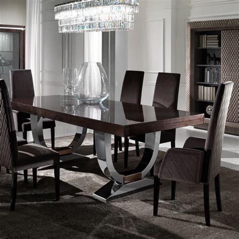 italian dining room tables large modern italian veneered extendable dining table