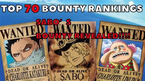 piece  top  bounty rankings sabos bounty