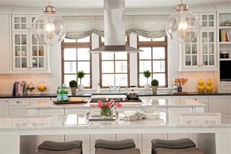 lake view luxury home transitional kitchen