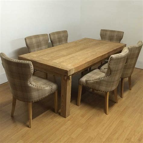 Natural Rough Rustic Farmhouse Dining Table