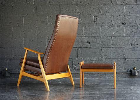 Scandinavian Modern Rocking Chair And Ottoman At 1stdibs