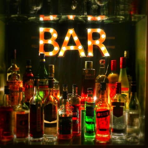 marquee bar sign     letter papercraft