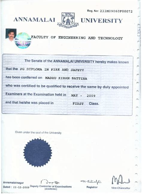 annamalai university nifs institute of and safety engineering