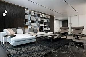 appartement de luxe avec touche industrielle a kiev With tapis de sol avec canapé d angle blanc
