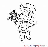 Chef Colouring Printable Coloring Sheet Sheets Title sketch template