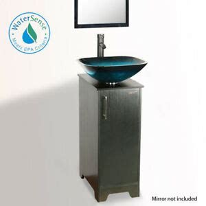 Small Bathroom Vanity Sink Combo by 14 Quot Eclife Small Bathroom Vanity Cabinet Vessel Glass Sink