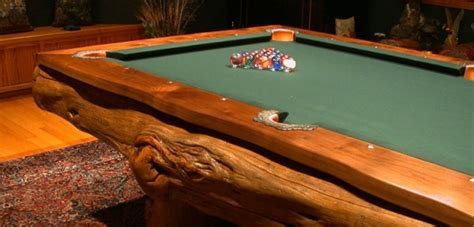 Log pool table 5   Home Design, Garden & Architecture Blog