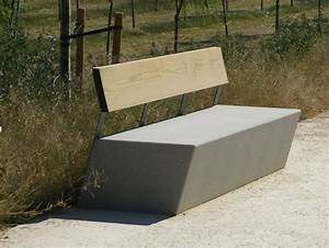 design public bench in concrete | Contemporary Garden ...
